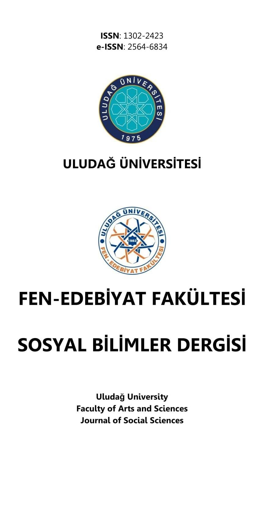 Uludağ Üniversitesi Fen-Edebiyat Fakültesi Sosyal Bilimler Dergisi